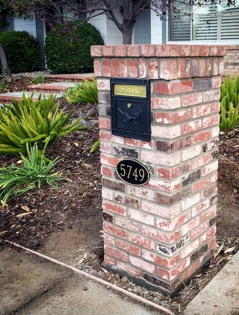 Mailbox with House Number